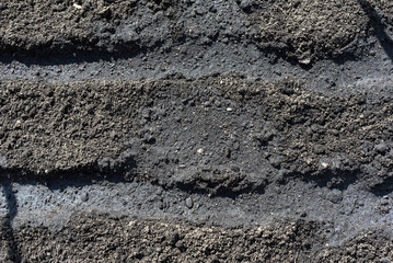 The texture of the soil close up ready for planting.