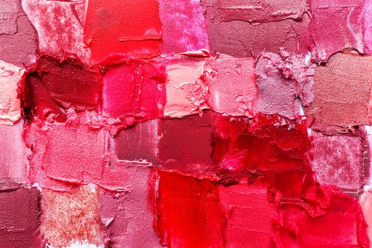 Samples of color lipsticks