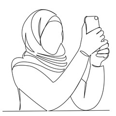 Muslim girl takes pictures