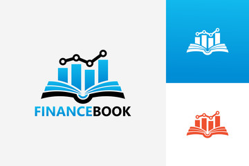 Finance Book Logo Template Design Vector, Emblem, Design Concept, Creative Symbol, Icon
