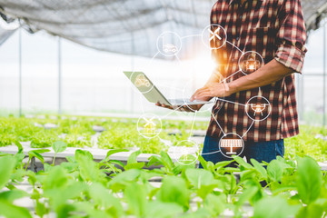 Concept of modern smart farming.