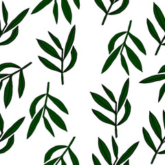 Vector trend bekground for printing on fabric,paper,wrapping,cover. Pattern ,whith leaves modern.