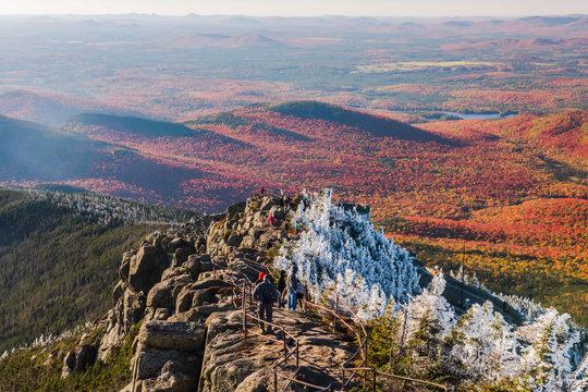 Tourists on Whiteface Mountain