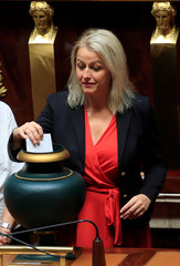 French La Republique en Marche Member of Parliament Barbara Pompili casts her vote to elect the new speaker at the National Assembly in Paris