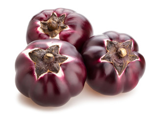 round mauve eggplant