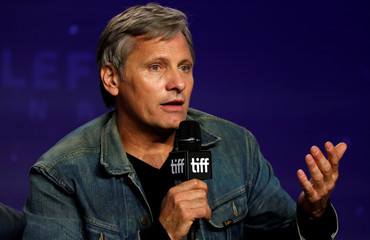 "Actor Viggo Mortensen talks during a news conference to discuss the movie ""Green Book"" at the Toronto International Film Festival in Toronto"