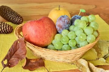 秋の信州特産フルーツ盛り合わせ