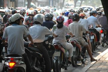 Traffic Jam, Hanoi, Vietnam