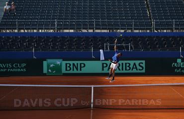 Davis Cup - Semi-Finals - Croatia Training