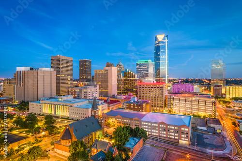 Fototapete Oklahoma City, Oklahoma, USA Skyline