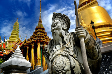 The Stone sculpture at grand palace Thailand
