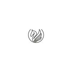 logo line  horse  abstract