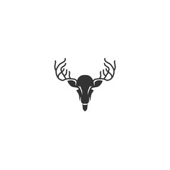 logo deer antler  abstract