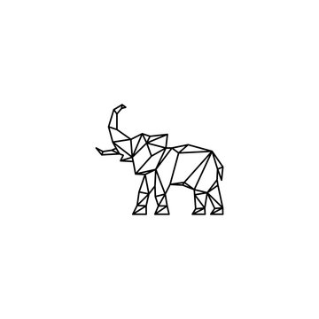 logo line elephant abstract