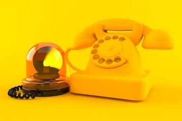 Communication background with emergency siren