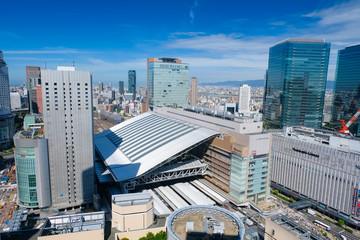 梅田 大阪駅 阪急グランドビルからの景色