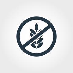 No Gluten icon. Monochrome style design from icon collection