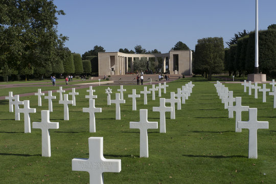 WW2 American Cemetery and Memorial, Omaha Beach. Normandy, France.