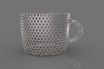 Coffee decorative mug 3D
