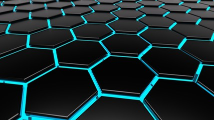 hexagonal organic surface