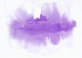 Purple watercolor horizontal gradient background. It's useful for greeting cards, valentines, letters. Abstract art style handicraft surface.