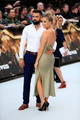 Lydia Rose Bright and her boyfriend Lee Cronin arrive at the world premiere of King of Thieves in London