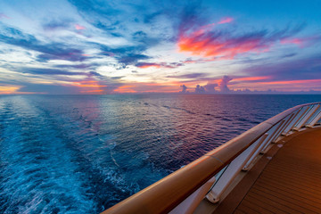 Sunset From A Cruise Ship