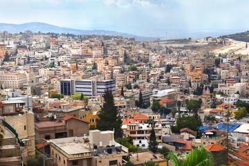 panoramic view of Nazareth, north of Israel