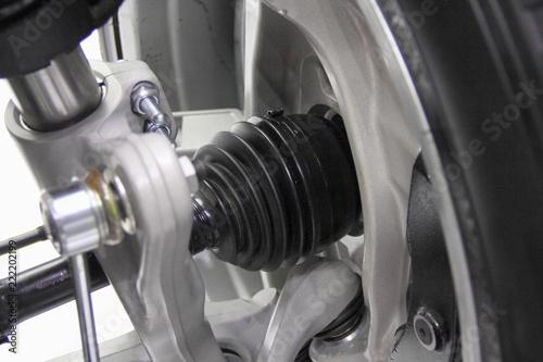 Automotive transmission parts - close up driveshaft, tripod CV-joint