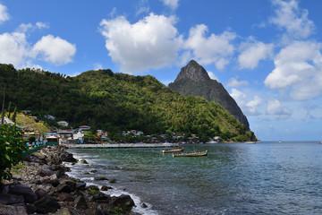 Piton mountains in Saint Lucia