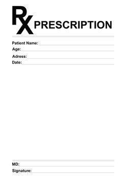 Medical prescription form