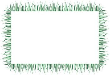 Marco de hierba verde.