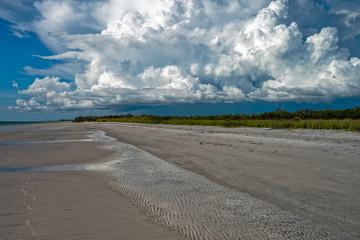 Storm cloud on the beach