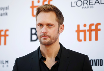 Skarsgard arrives for the premiere of Hold the Dark at the Toronto International Film Festival in Toronto