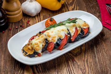 baked eggplant on plate
