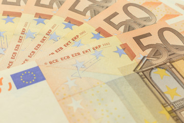 notes background of 50 euros