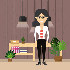 Business  woman worker at office