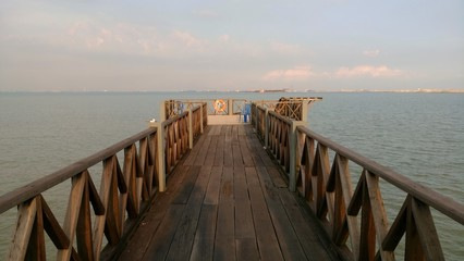 a jetty at the beach