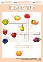 Fruit cross word concept