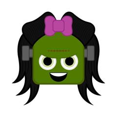 Cute halloween zombie cartoon character