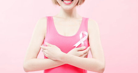 woman with prevention breast cancer