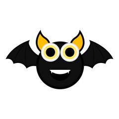 Cute halloween bat cartoon character
