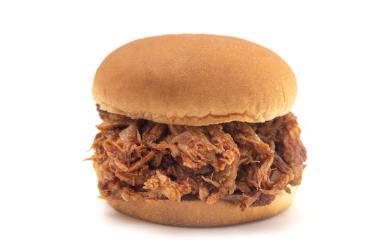 Pulled Pork Sandwich on a White Bun