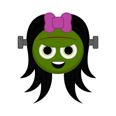 Cute halloween zombie cartoon character