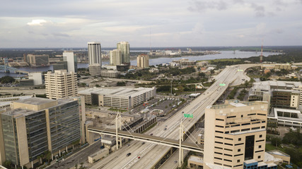 Highway 95 Cuts Through Downtown Jacksonville Florida