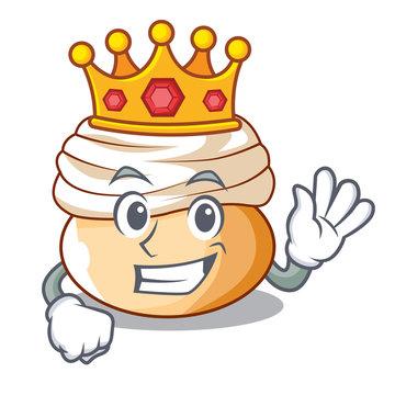 King seasonal swedish dessert semla buns cartoon
