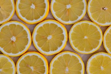 slices of ripe lemon