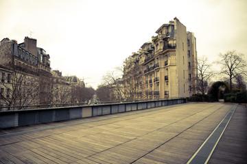 Coulee Verte Rene-Dumont park in Paris, France