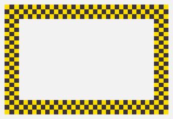 Marco de cuadros negros y amarillos.