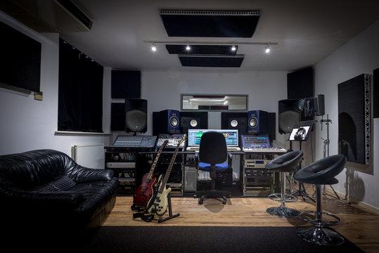 Recording Studio Control Room (no engineer)